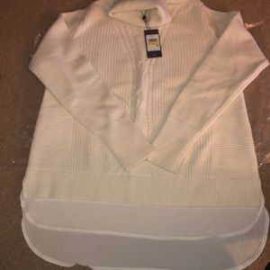 NWT Tommy Hilfiger layered turtleneck sweater